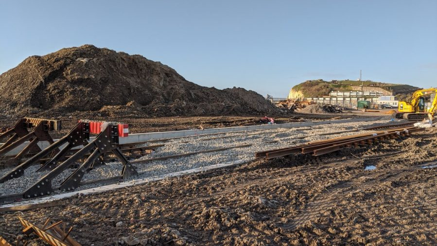 New buffer stops at Newhaven Port (photo courtesy Rail Record)