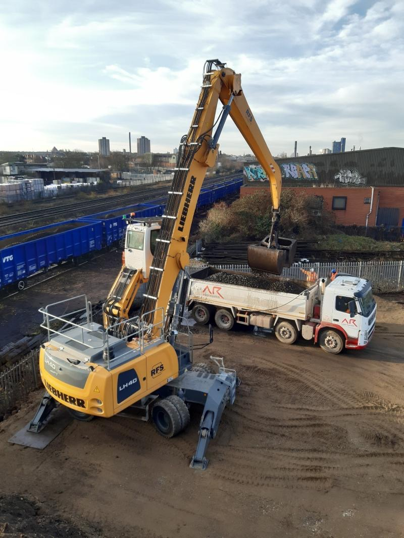 First train into DC Rail's new railhead at Leicester Humberstone Road (photo DC Rail)